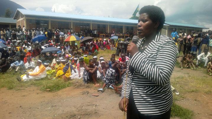 Uwambajemariya Meya w'akarere ka Burera mu nzira zo kwegura[photo archieves]