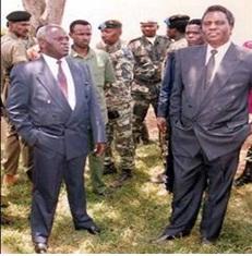 Habyarimana MRND na Kanyarengwe FPR mu masezerano ya Arusha[photo archieves]