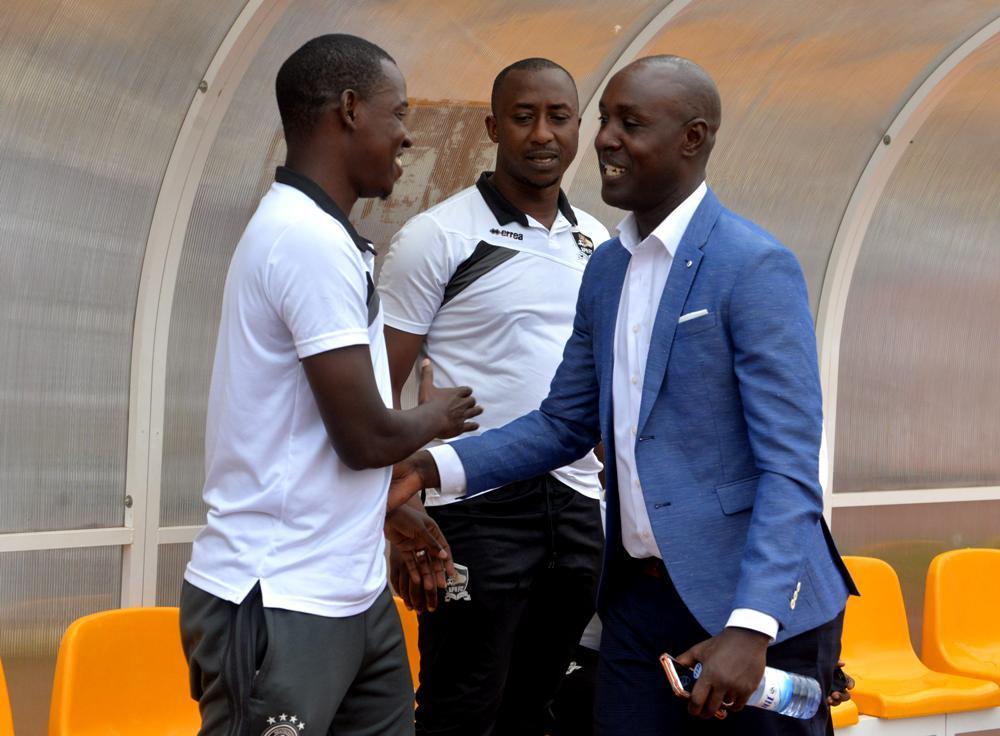 Jimmy Mulisa umutoza wa APR Fc na Karekezi Olivier umutoza wa Rayon Sport[photo archieves]