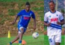Rayon Sport: abakinnyi  Mugeni Fabrice na Samwel mu myitozo yo kwitegura Bugesera